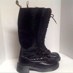 Doc Martens 9730 Black Leather Boots UK8  England